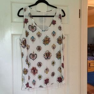NWOT flowy floral tank, wear alone or later